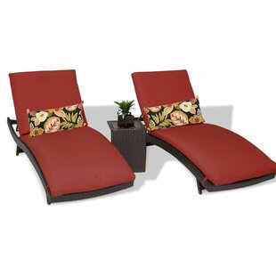 Bali Sun Lounger Set with Cushions and Table