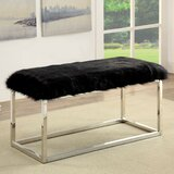 Agrippa Contemporary Metal Bench by Everly Quinn