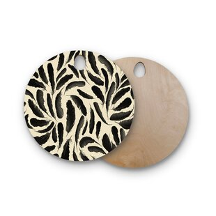 Skye Zambrana Birchwood Feather Pattern Cutting Board
