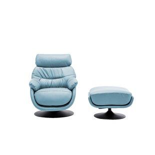 Orren Ellis Wanita Swivel Lounge Chair and Ottoman