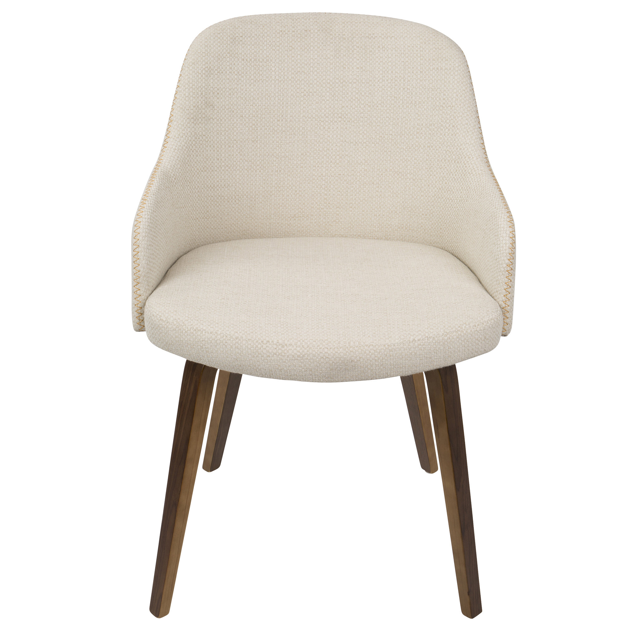 Genial George Oliver Brighton Mid Century Modern Upholstered Dining Chair