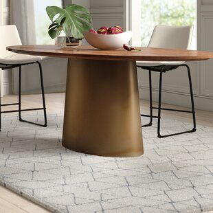 Noell Oval Dining Table Mercury Row