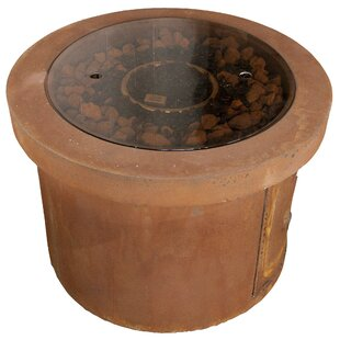BayPointe Outdoors Urban Series Stone Gas Fire Pit Table