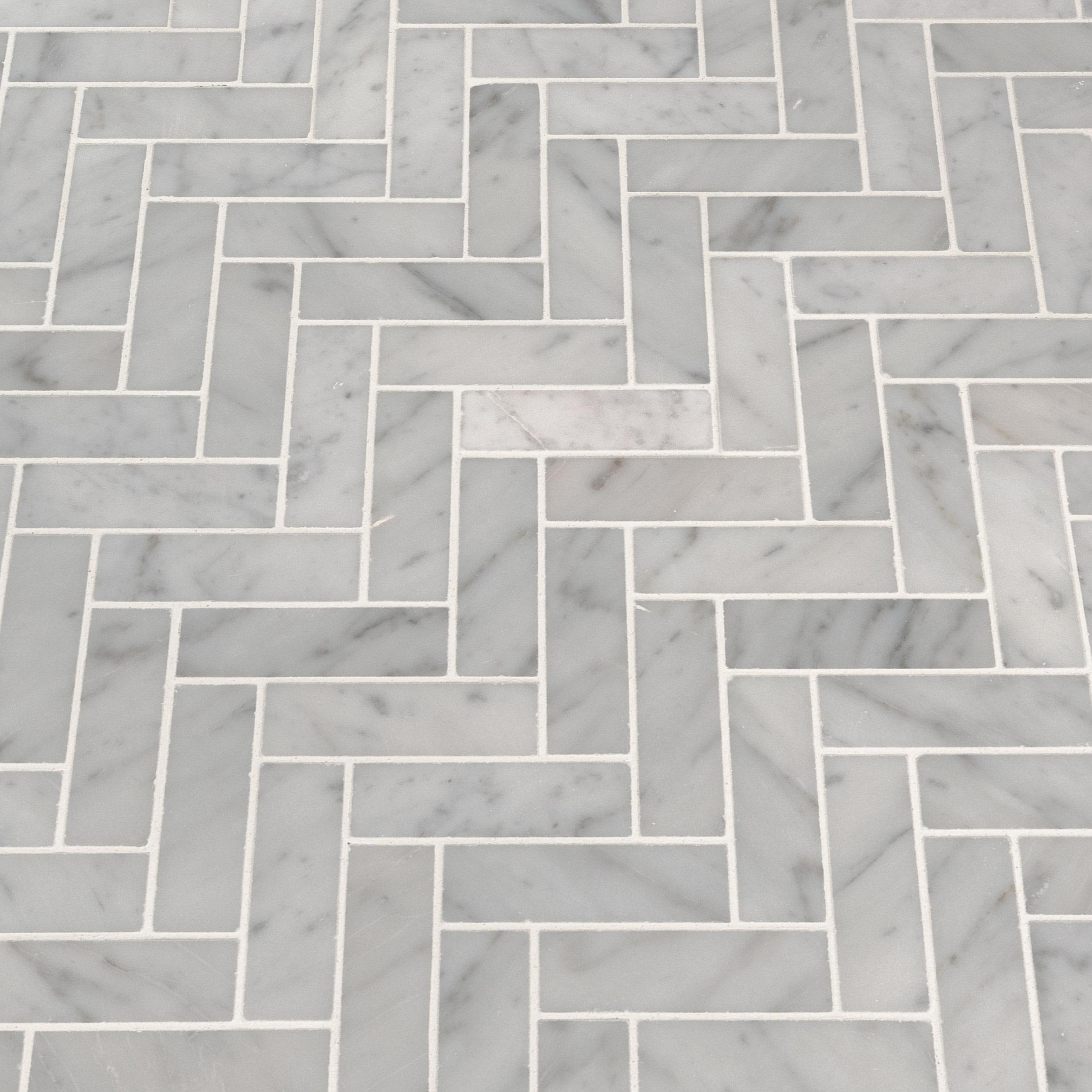 Msi Carrara Herringbone 1 X 3 Marble