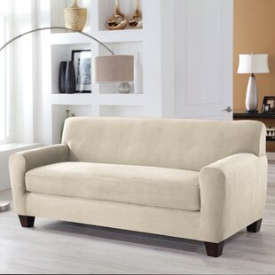 Shop Tailor Fit Box Cushion Sofa Slipcover by Serta