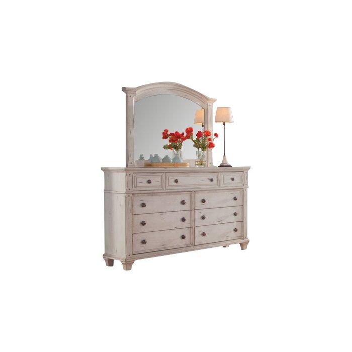 Dorinda 9 Drawer Dresser With Mirror