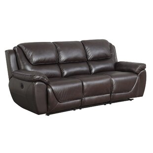 3388b1902eb Real Leather Recliner Sofa | Wayfair