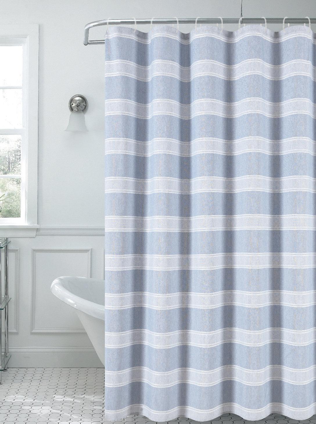 Rosalind Wheeler Haylee Striped Shower Curtain Wayfair