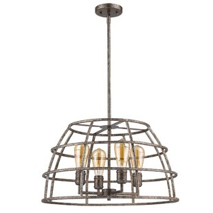 17 Stories Guillaume Solid 4-Light Lantern Pendant