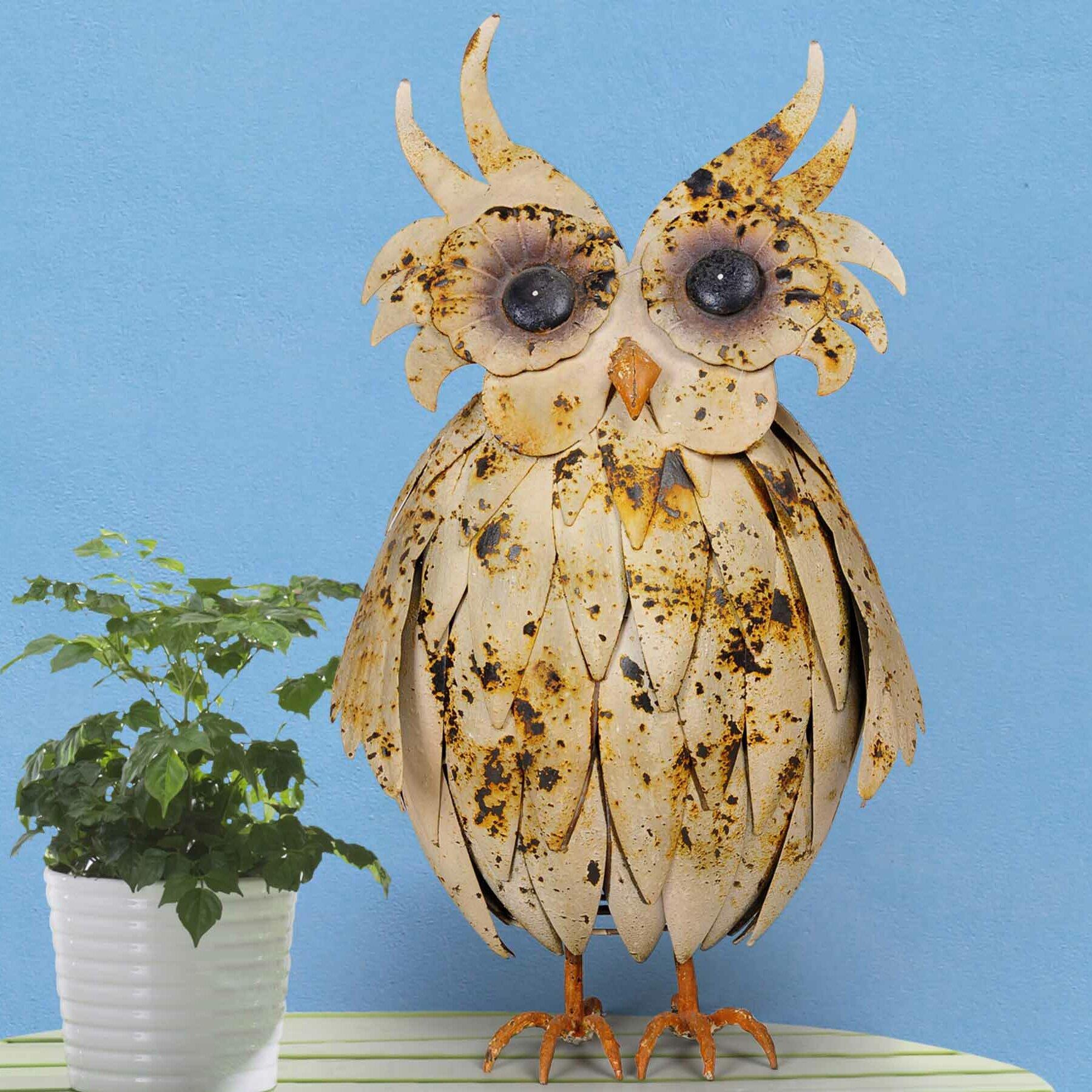 Sunjoy Friendly Owl Garden Statue Wayfair