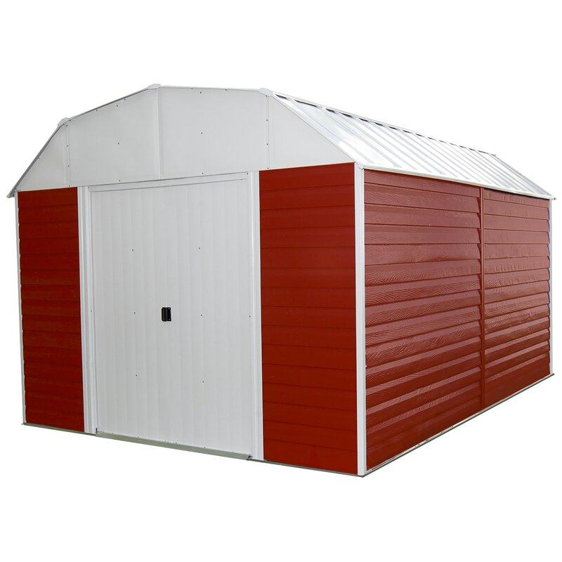 D Metal Storage Shed