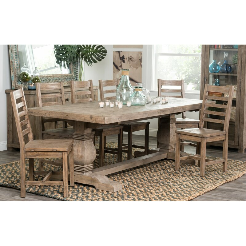7 piece dining table set contemporary gertrude piece dining set lark manor reviews wayfair