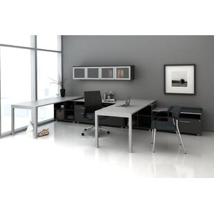 Trig Private L-Shape Desk Office Suite by Trendway