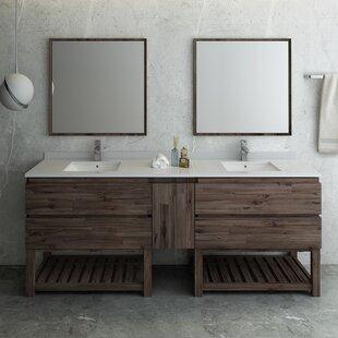 84 Inches Rustic Bathroom Vanities You Ll Love In 2021 Wayfair