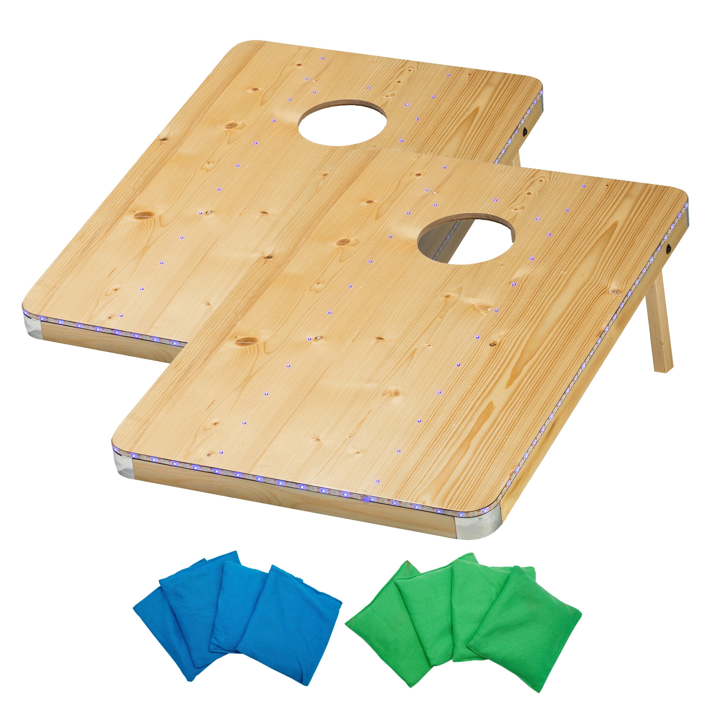 Admirable 2 X 3 Led Bean Bag Toss Solid Wood Cornhole Boards Evergreenethics Interior Chair Design Evergreenethicsorg