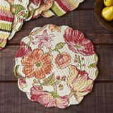 Abagail Round Quilted 17 Cotton Placemat (Set of 6)