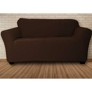 Stretch Velvet T-Cushion Loveseat Slipcover by Symple Stuff