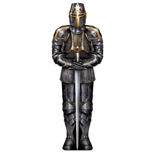 Medieval Jointed Black Knight Standup by The Beistle Company