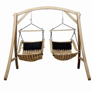 Hammons Teak Porch Swing with Stand (Set of 3)