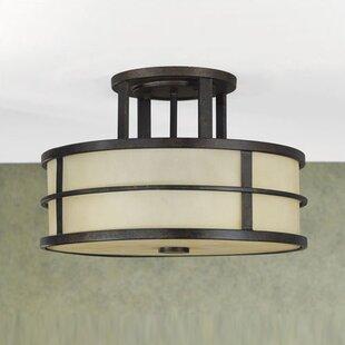 Oppenheimer 3-Light Semi Flush Mount ByBrayden Studio