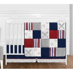 Budget Baseball Patch 4 Piece Crib Bedding Set By Sweet Jojo Designs