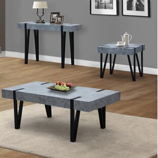 17 Stories Everett 3 Piece Coffee Table Set