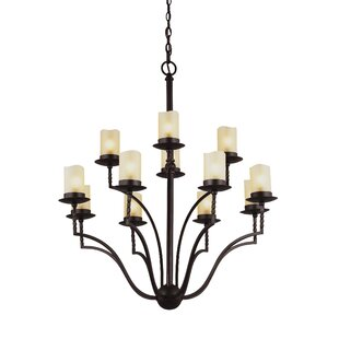 Darby Home Co Bungalow 12-Light Shaded Chandelier