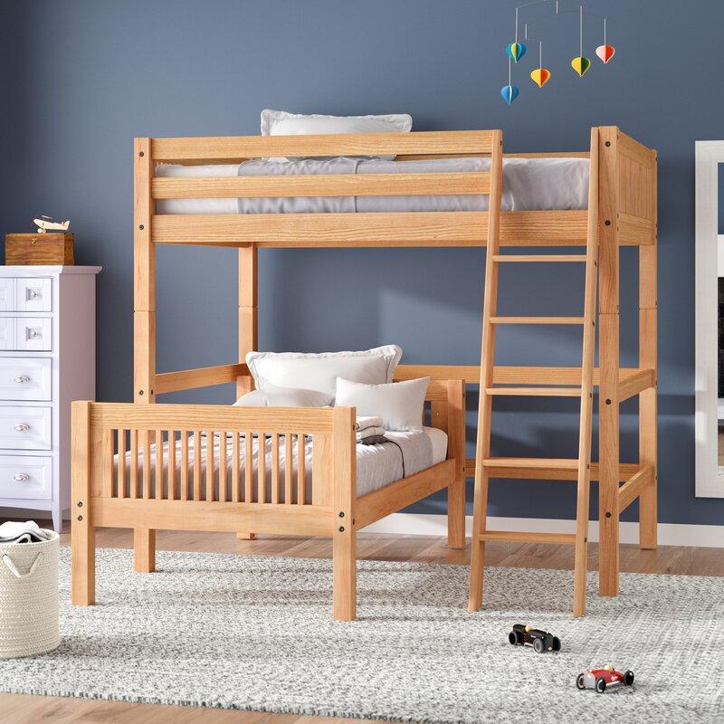 Isabelle Full Over Twin L Shape Loft Bed