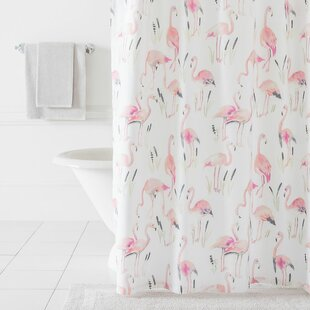 Flamingos Single Shower Curtain