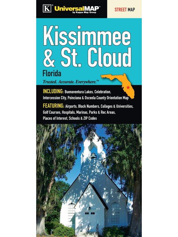 St Cloud Zip Code Map.Universal Map Kissimmee St Cloud Osceola Florida Fold Map Wayfair