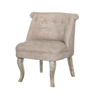 One Allium Way Kaat Tufted Fabric Slipper Chair