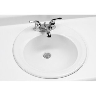 Toto Ceramic Circular Drop-In Bathroom Sink with Overflow