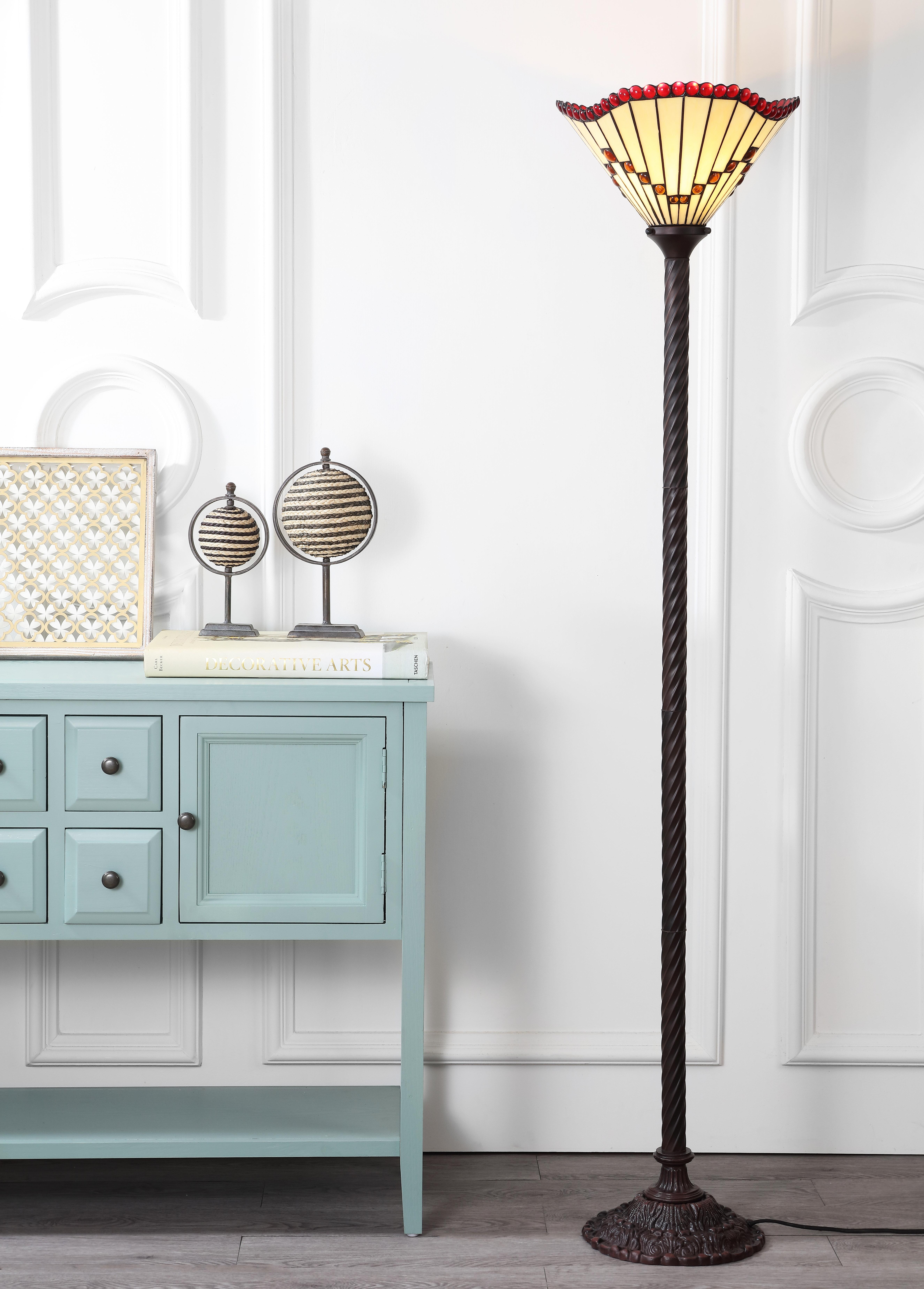 Loon Peak Ortiz Tiffany 70 5 Torchiere Floor Lamp Wayfair