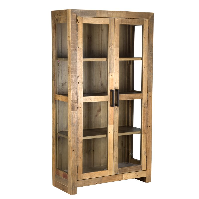 Abbey Solid Curio Flat Back Cabinet
