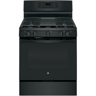 Convection 30 Free-standing Gas Range with Griddle by GE Appliances