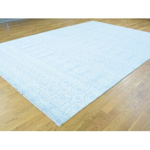 Best Choices One-of-a-Kind Braedon Ikat Design Handwoven Blue Wool Area Rug By Isabelline