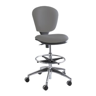 Safco Metro Collection Extended Height SwivelTilt Chair, Gray Fabric
