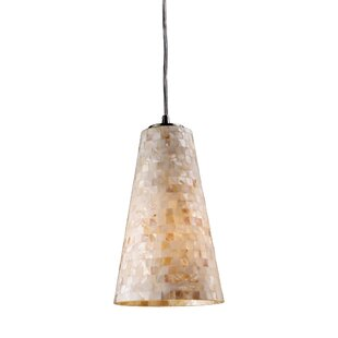 Beachcrest Home Roehampton 1-Light Cone Pendant