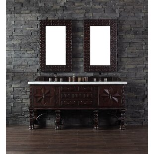 Avebury 72 Double Antique Walnut Bathroom Vanity Set by Astoria Grand