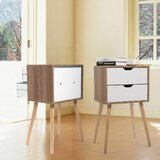 Schneck 2 Drawer Nightstand (Set of 2) by George Oliver