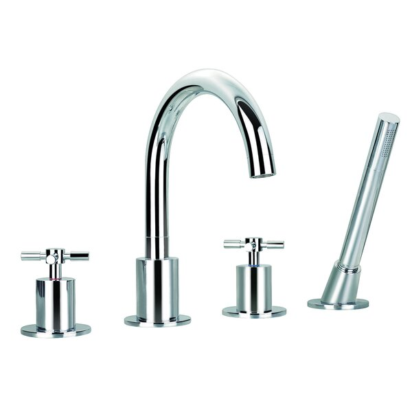 Ancona Prima Double Handle Deck Mount Bathtub Faucet With Shower Wand |  Wayfair