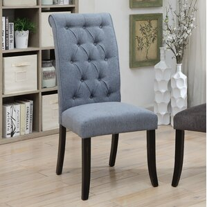 Tomasello Transitional Upholstered Dining Chair (Set of 2) by Darby Home Co