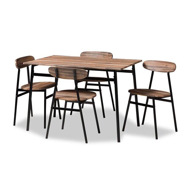 Telauges 5 Piece Dining Set & Reviews | Joss & Main by Joss & Main