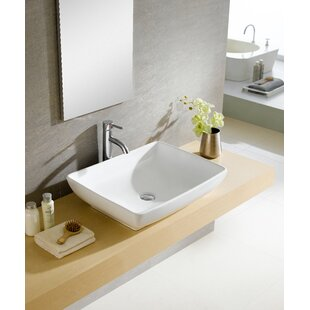 Compare Modern Ceramic Rectangular Vessel Bathroom Sink By Fine Fixtures