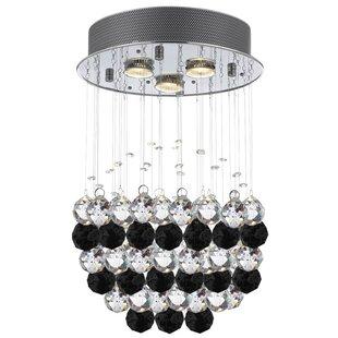 Orren Ellis 3-Light Crystal Pendant