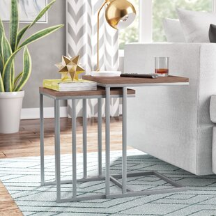 Brayden Studio Wallick 2 Piece Nesting Tables