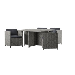 Furst Outdoor 5 Piece Dining Set with Cushions