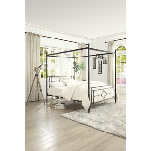 Gracie Oaks Woodson Canopy Bed