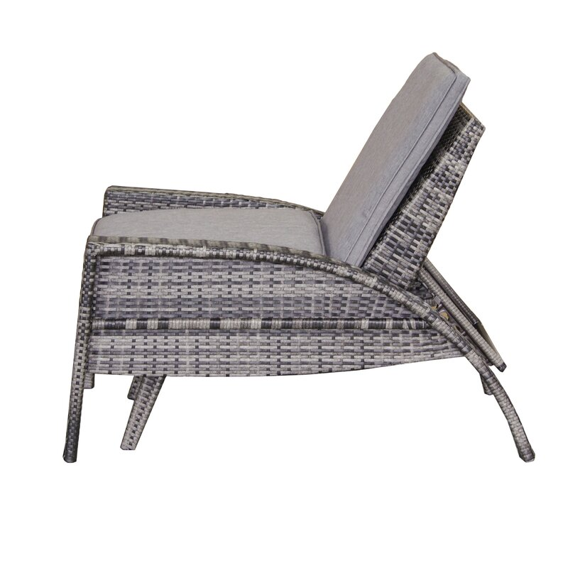 Anna Outdoor Convertible Chaise Lounge with Cushion & Reviews