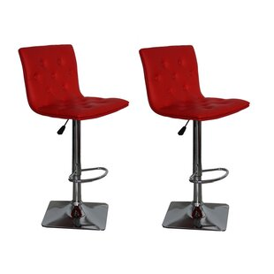 Ilene Adjustable Height Swivel Bar Stool (Set of 2)